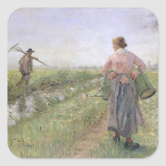 In the Morning, 1889 Square Sticker