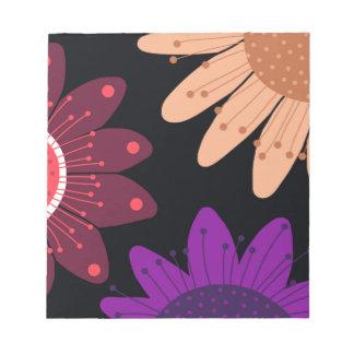 In The Night Garden. Whimsical flower design Notepad