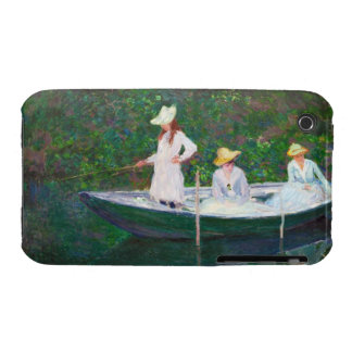 In the Norwegian Boat at Giverny Claude Monet iPhone 3 Case