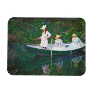 In the Norwegian Boat at Giverny Claude Monet Magnet