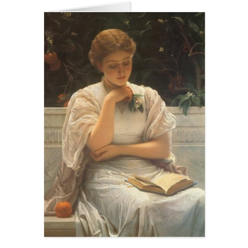 In the Orangery by Charles Edward Perugini Greeting Cards