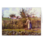 In the Orchard by Camille Pissarro Greeting Card