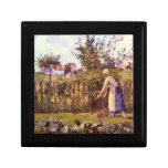 In the Orchard by Camille Pissarro Keepsake Box