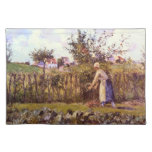 In the Orchard by Camille Pissarro Place Mat