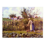 In the Orchard by Camille Pissarro Postcard