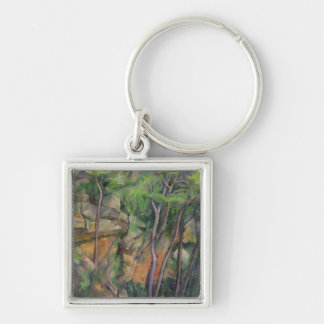 In the Park of Chateau Noir, c.1896-99 Silver-Colored Square Key Ring