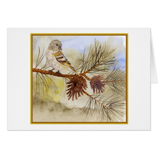'In the Pines- Pine Siskin' Card
