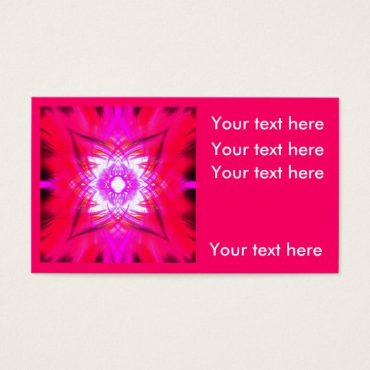In the pink business card