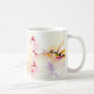 """In the Pink"" Hummingbird Print Basic White Mug"