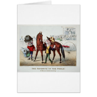 In The Pools 1876 Greeting Card