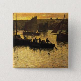 In the Port, 1895 15 Cm Square Badge