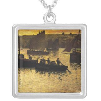 In the Port, 1895 Silver Plated Necklace