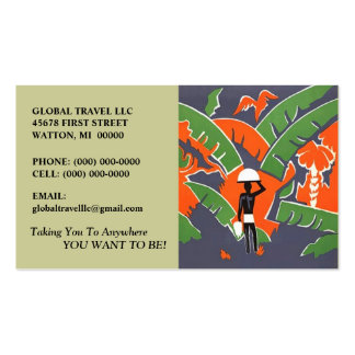 IN THE RAINFOREST BUSINESS CARDS EYE-CATCHING CARD