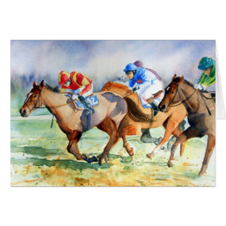 In the Running Greeting Card
