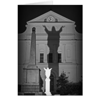 In the shadow of Jesus Greeting Card