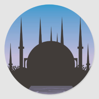 In the Shadow of Mecca Round Sticker