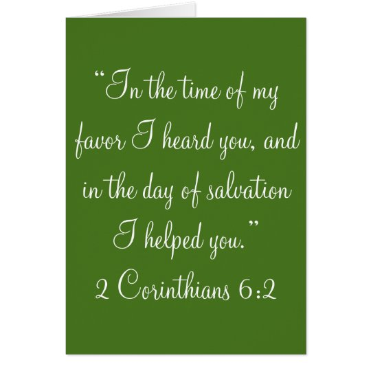 """In the time of my favour"" Scripture Greeting Card"