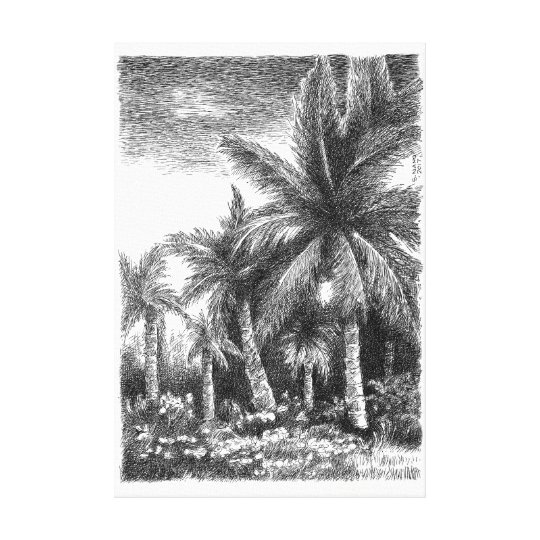 In the Tropic Canvas Print