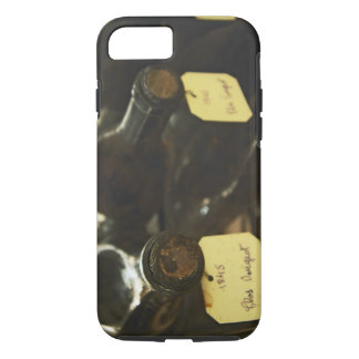 In the underground wine cellar: lying bottles in iPhone 8/7 case