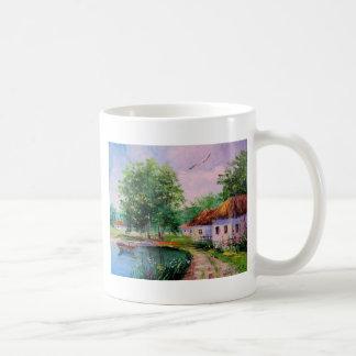 in the village coffee mug