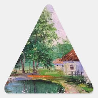in the village triangle sticker