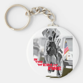 In The Weim Of Fire Key Chain