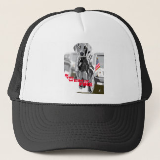 In The Weim Of Fire Trucker Hat