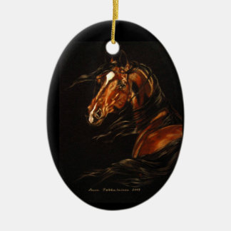 In the WInd Ceramic Oval Decoration