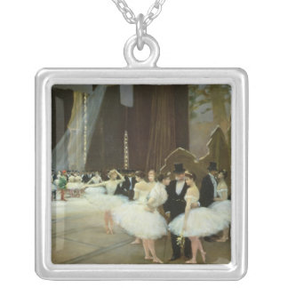 In the Wings at the Opera House, 1889 Silver Plated Necklace