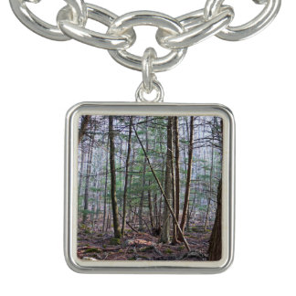 In The Woods At Dawn Charm Bracelet