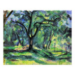 In the Woods by Paul Cezanne Poster