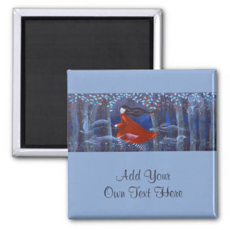 In The Woods With Animal Spirits. Square Magnet