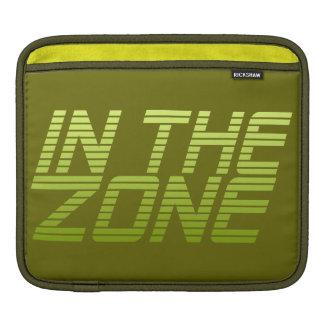 IN THE ZONE custom iPad sleeve