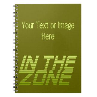 IN THE ZONE custom notebook