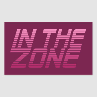 IN THE ZONE custom stickers