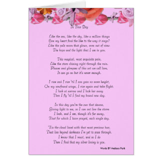 In This Day Love Poem Greeting Greeting Card