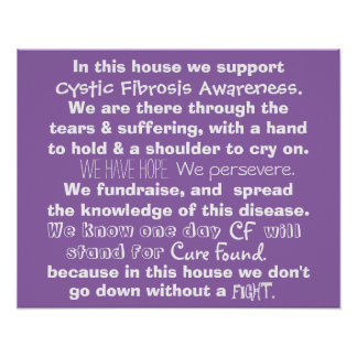 In This House - Cystic Fibrosis Poster