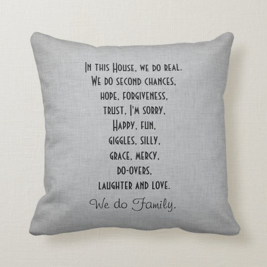 In this House We Do Family Quote Cushion