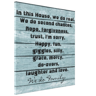 In this House We Do Family Quote Print Canvas Print