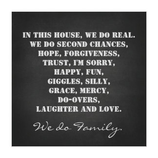 In this House We Do Family Quote Print Stretched Canvas Prints