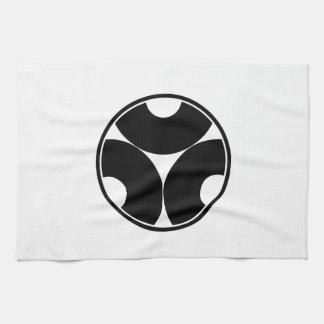In thread wheel three dividing bull's eyes towels