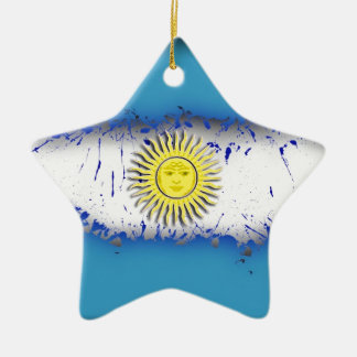 in to the sky, Argentina Christmas Ornament