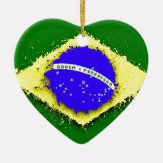in to the sky, Brazil Christmas Ornament