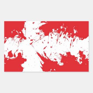 in to the sky,(Denmark) Rectangular Sticker