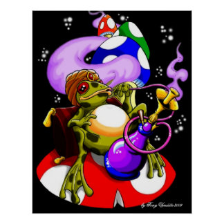 ...in Toadstool Meadows (after dark) Poster