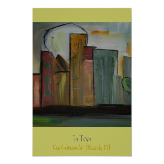 In Town by Kim Anderson Art Poster
