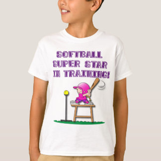 in training, pink T-Shirt