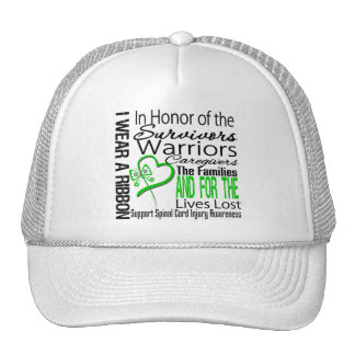In Tribute Collage Spinal Cord Injury Trucker Hat