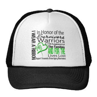 In Tribute Collage Traumatic Brain Injury Mesh Hat