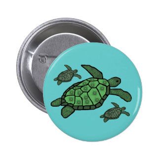 In Triple sea turtles button